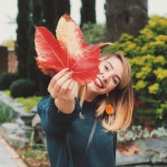 This is the excitement of finding huge autumn leaves on our driveway Poppy Deyes, Zoe Sugg, Fall Photos, Celebs, Celebrities, Autumn Leaves, Autumn Fashion, Lady, Pretty