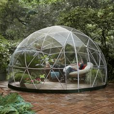 THE GARDEN IGLOO 360 DOME with PVC Weatherproof Cover | Luxury Gifts | Gifts for Her | Garden Gifts | Conservatory