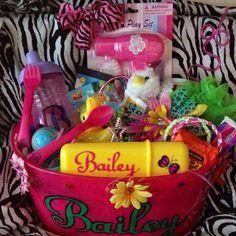 Personalized easter baskets by lindsay davis for 17 year old girl personalized easter basket for little girl by lindsay davis negle Images
