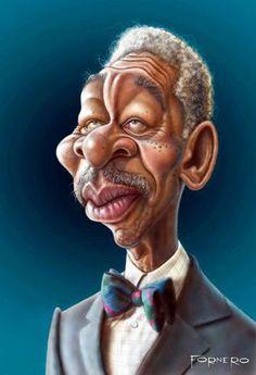 Morgan Freeman by Brian Froud