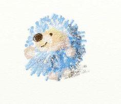 little hedgehog.   By ~skleppi.