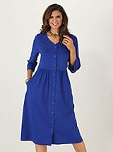 Button-front knit dress by Vicki Wayne® | Old Pueblo Traders