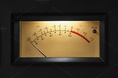 VU Meter on audio equipment by AlexZaitsev on @creativemarket