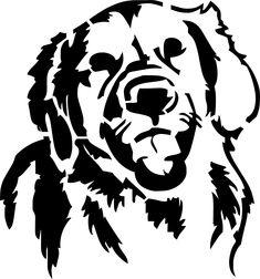 Eigenmarke Stencil Schablone Golden Redriever