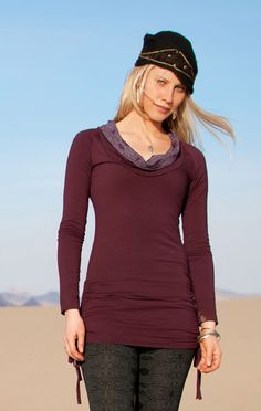 Nomads Hemp Wear: Aura Ls Tee in Merlot Red, Ricj Purple, Pond Blue. Ivy Green and Black