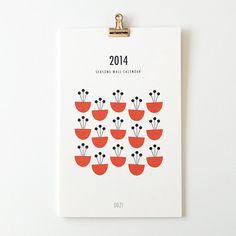 2014 wall calendar - seasons