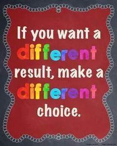 Diferente elección, diferente resultado