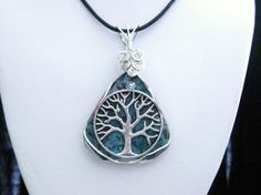 Wiccan Pagan Jewelry Tree of Life Pendant by TheGlitterShop, $50.00