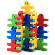 Creative Wooden Cartoon Balance Villain Building Blocks Children Wood Building Blocks Kindergarten Early Education Toys