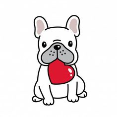 """Awesome """"Bulldog puppies"""" info is readily available on our internet site. Cartoon Drawings, Easy Drawings, Dog Illustration, Illustrations, French Bulldog Drawing, Karten Diy, Dog Vector, Valentine Heart, Valentines"""