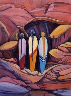Triple Goddess, Native Art, Real People, Rock, Fictional Characters, Beautiful, Live, Women, Skirt
