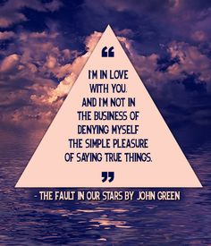 The Fault in Our Stars by John Green 21 Beautiful And Unique Wedding Readings From Books John Green Quotes, John Green Books, Movie Quotes, Book Quotes, Life Quotes, Quotes Quotes, Book Memes, Sweet Quotes, Crush Quotes