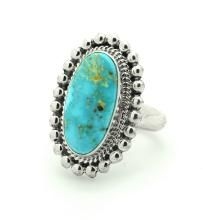 Sterling Silver Genuine Turquoise Ring Navajo Native American Indian Jewelry Singed Ray Jack