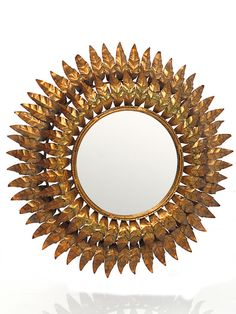 The Point Circular Mirror, Sunburst Mirror, Home Decor, Sun Mirror, Gold Frames, Decorative Mirrors, Architecture, Home, Accessories