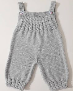 Best 12 Ravelry: Baby Overalls with detailed cabled bodice and matching sweater pattern by OGE Knitwear Designs – SkillOfKing. Baby Cardigan Knitting Pattern Free, Baby Romper Pattern, Baby Boy Knitting Patterns, Knitting For Kids, Baby Patterns, Crochet Baby Pants, Knit Baby Dress, Knitted Baby Clothes, Knitted Baby Romper