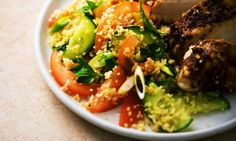 Bikini Fast Diet: Harissa-spiked chicken with giant couscous