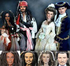 brooke and michael jackson dolls by noel cruz   Os personagens de Piratas do Caribe (os bonecos depois e antes da ...