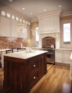 mix wood and painted cabinets - Google Search & 30 best mixed paint wood cabinets images on Pinterest | Home ideas ...