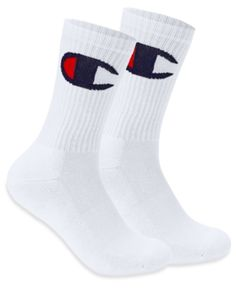 c096644c1593 Champion Men s Big-Logo Crew Socks - Orange 10-13