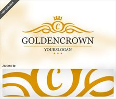 """Golden Crown Logo Template"""