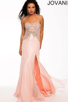 Strapless Embellished Dress 80085