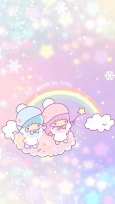 56 Ideas For Wall Paper Cute Iphone Kawaii Little Twin Stars Sanrio Wallpaper, Iphone Wallpaper Stars, My Melody Wallpaper, Hello Kitty Wallpaper, Kawaii Wallpaper, Cute Wallpaper Backgrounds, Trendy Wallpaper, Little Twin Stars, Sanrio Characters