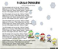 5 Little Penguins Rhyme