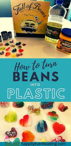 Turn soybeans into plastic with just two ingredients and your microwave.  Super fun STEM project is based on the book Full of Beans: Henry Ford Grows a Car by Peggy Thomas.  Did you know that Henry Ford built a car out of soybean derived plastic and that you can make soybean plastic yourself at home?  What will you make? My Preschool girls loved this activity, but it is equally exciting and fun for older kids, too. Stem Projects, Projects For Kids, Crafts For Kids, Toddler Preschool, Preschool Crafts, Stem Activities, Toddler Activities, Cool Science Experiments, Craft Day