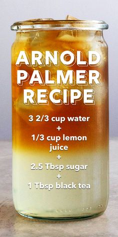 A mix of iced tea and lemonade, an Arnold Palmer is a popular summertime drink. My Arnold Palmer drink is refined and made from scratch. Drink Recipes Nonalcoholic, Drinks Alcohol Recipes, Non Alcoholic Drinks, Tea Drinks, Beverage, Cocktails, Iced Tea Recipes, Coffee Recipes, Wine Mixed Drinks