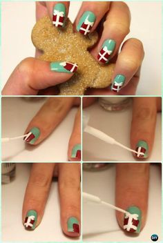 Diy christmas nail art ideas designs christmas tree nails tree diy christmas nail art ideas designs prinsesfo Images
