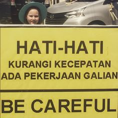 """Hati-Hati means """"be careful"""" but just Hati is """"sweetheart"""". Both seem appropriate."""
