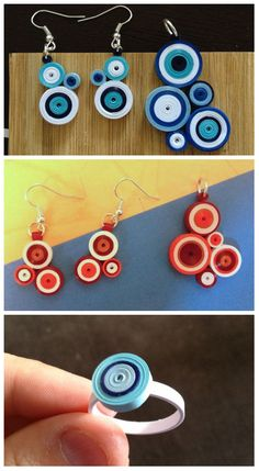 12 Awesome Paper Quilling Jewelry Designs To Start Today – Quilling Techniques Paper Quilling Earrings, Paper Quilling Designs, Quilling Paper Craft, Quilling Craft, Quilling Patterns, Quiling Earings, Paper Bead Jewelry, Paper Beads, Jewelry Crafts