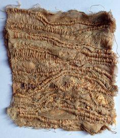 Julia Wright, hand stitch, layered rust dyed fabric