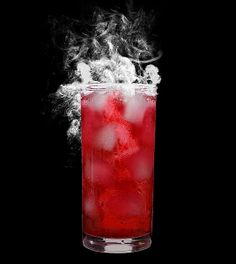 Red Velvet Devil (vodka, cranberry juice, club soda)