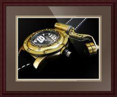 "Retrowerk German Diver Watch // Paper: enhanced matte; Glazing: acrylic; Moulding: dark brown, arqadia traditional mahogany; Top Mat: brown, chestnut brown; Middle Mat: tan, gold bullion; Bottom Mat: tan, seaside // Price starts at $169 (Petite: 21.75"" x 23.75""). // Customize at http://www.imagekind.com/Retrowerk-German-Diver-R-RGD_art?IMID=25fdfe97-ba7c-491f-8324-c4ab405f8d94"