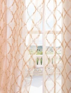 Gia Gold Embroidered Sheer Curtain                              …