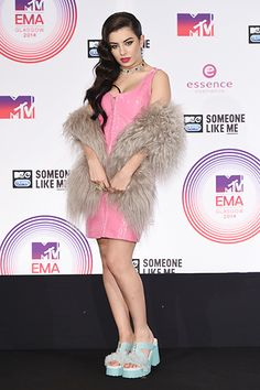 Charli XCX poses in the winners room at the MTV EMA's 2014 at The Hydro on November 9, 2014 in Glasgow, Scotland.