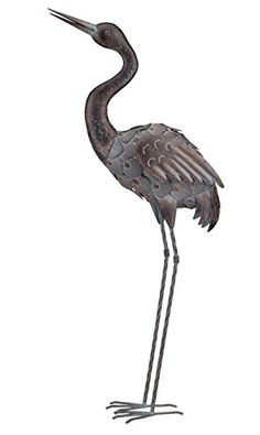 Regal Art and Gift up Bronze Crane Standing Art 37Inch *** Click image for more details.