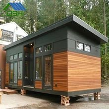 450 Sq Ft Waterhaus Prefab Tiny Home 0019 This is the 450 sq. Waterhaus Prefab Tiny Home designed by GreenPod Development and built by Sprout Tiny Homes. It's also known as the Storage-Friendly Water House. Prefab Tiny House Kit, Tiny House Kits, Tiny House Exterior, Modern Tiny House, Tiny Houses For Sale, Tiny House Plans, Small Houses, Home Design, Small House Design