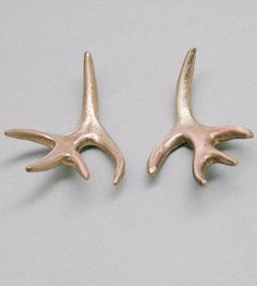 Formed to look just like tiny deer antlers, these rustic earrings are handmade and cruelty-free—no miniature deer were harmed in the making.