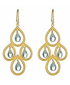 Gold chandelier earrings #jewelry
