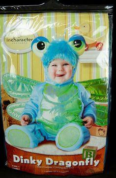Baby Girl Halloween Costume Dragonfly InCharacter Jumpsuit Booties 6-12 Months…