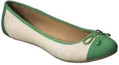 ShopStyle: Women's Merona® Madge Cap Toe Ballet Flat - Green
