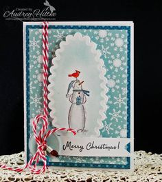 It's Snow Time by AudreyAnn - Cards and Paper Crafts at Splitcoaststampers Christmas Snowman, Christmas Ornaments, Cute Crafts, Stamp Sets, Card Designs, Snowmen, Stampin Up Cards, Snowflakes, Stamping