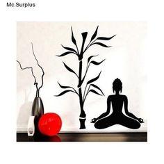 Asian Buddha Wall Decal Stickers Art  Room Print Decor Vinyl Zen Home Tree Yoga  #Asian