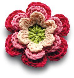 Free crochet pattern : flower from Mollie Makes
