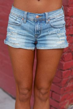 Born in the USA Denim Shorts - Light Wash from Closet Candy Boutique #fashion #summer #outfit