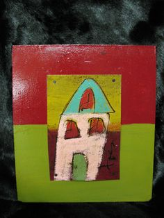 house paint on tar paper by local artist, Tres Taylor- in the Journey of Hope Gala art auction on May 5th.  www.firstlightshelter.org