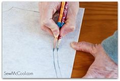 7. Use two pencils to add a uniform seam allowance. | Community Post: 19 Sewing Hacks You Should Know
