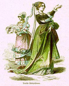 Plate #34d - First Third of the Sixteenth Century. German Citizen Women